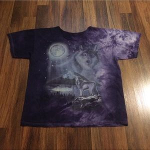 New Listing! Vintage 90s Wolves Tie Dye T-Shirt